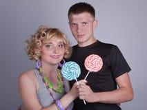 Ele e ela Fotos de Stock Royalty Free