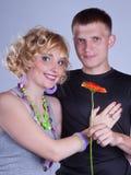 Ele e ela Fotos de Stock