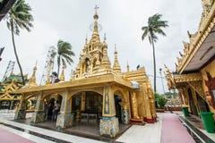 Ele Phaya (在一个小海岛上的塔)在Syriam,缅甸 免版税库存图片