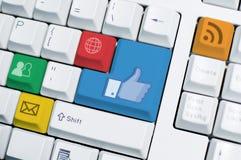 ELE teclado (ângulo 1) Imagem de Stock Royalty Free