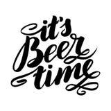 Ele tempo da cerveja do ` s Festival tradicional da ataúde de Oktoberfest do alemão Ilustração desenhado à mão da rotulação da es Fotos de Stock Royalty Free