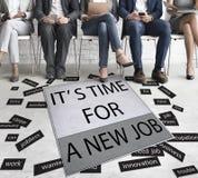 Ele tempo do ` s para Job Career Employment Concept novo Imagens de Stock