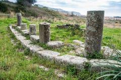 Elea Velia в римских временах, древний город больших винных бутылок Grecia Стоковая Фотография RF