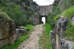 Elea Velia в римских временах, древний город больших винных бутылок Grecia Стоковое Изображение