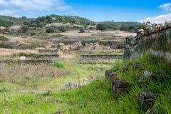 Elea Velia i romerska tider, är en forntida stad av Magna Grecia Arkivfoton