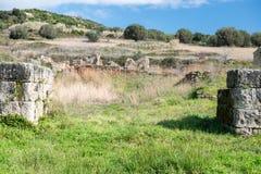 Elea Velia i romerska tider, är en forntida stad av Magna Grecia Royaltyfria Bilder