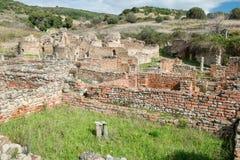 Elea Velia i romerska tider, är en forntida stad av Magna Grecia Royaltyfri Bild