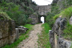 Elea Velia nas épocas romanas, é uma cidade antiga de Magna Grecia imagem de stock