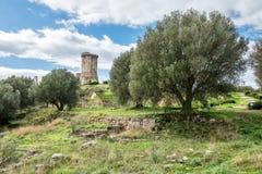 Elea Velia nas épocas romanas, é uma cidade antiga de Magna Grecia imagens de stock