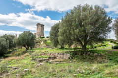 Elea Velia in Roman times, is an ancient city of Magna Grecia Stock Images