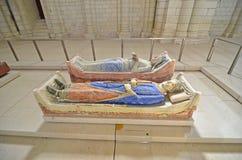 Eleanor av Aquitaine och Henry II Arkivbild