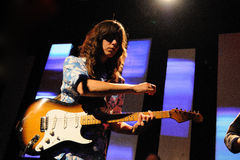 Eleanor Friedberger performs at Barcelona Royalty Free Stock Photos