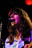 Eleanor Friedberger utför på Barcelona Royaltyfria Bilder