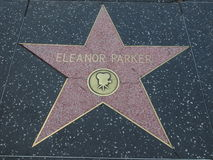 Eleanor parker star on hollywood walk of fames Royalty Free Stock Photography