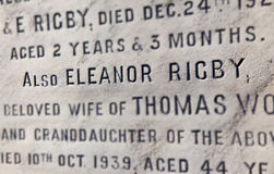 Eleanor Rigby Grave in Liverpool Royalty Free Stock Photos