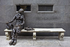 Eleanor Rigby Sculpture in Liverpool Royalty Free Stock Photography