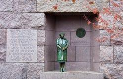 Eleanor Roosevelt Statue FDR-minnesmärke i Washington, D C arkivfoto