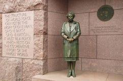 Eleanor Roosevelt Statue in memoriale di FDR Fotografia Stock