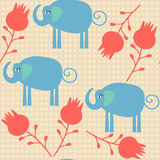 Eleaphant seamless pattern. It is located in swatch menu,  Royalty Free Stock Images