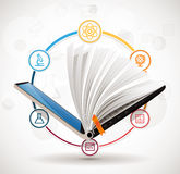 Elearning concept - online learning system - knowledge growth Royalty Free Stock Image