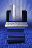 elearning ebook принципиальной схемы Стоковая Фотография