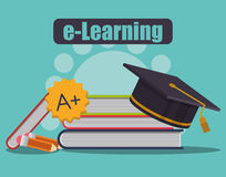 Elearning and ebook design Stock Photography