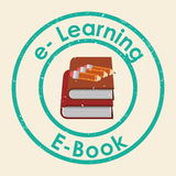 Elearning and ebook design Royalty Free Stock Photography