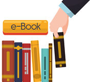 Elearning and ebook design Royalty Free Stock Image
