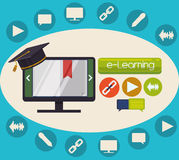 Elearning and education design Royalty Free Stock Photos
