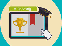 Elearning and education design Royalty Free Stock Photography