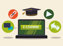 Elearning and education design Stock Image