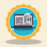 Elearning and education design Stock Photography