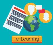 Elearning and education design Stock Images