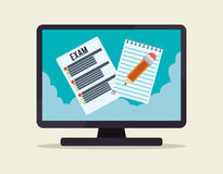 Elearning and education design Royalty Free Stock Images