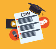 Elearning and education design Royalty Free Stock Photo