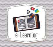 Elearning and education design Royalty Free Stock Image