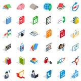 Elearning icons set, isometric style. Elearning icons set. Isometric style of 36 elearning vector icons for web isolated on white background Royalty Free Stock Photography