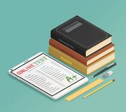 Elearning Isometric Design Concept stock illustration