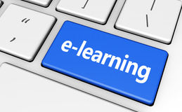 Elearning Key Education Concept Stock Photos