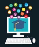 ELearning of online onderwijs vector illustratie