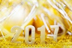 Сelebration holiday new year 2017 Stock Image