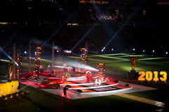 Сelebration of the title of champion in the Champions League Ukraine Shakhtar Stock Images