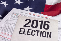 Elección 2016 Imagen de archivo libre de regalías