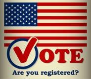 Elección de los E.E.U.U. - plantilla Foto de archivo libre de regalías