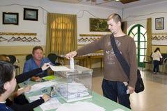 Elección en Cataluña Imagen de archivo libre de regalías