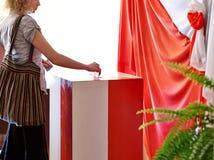 Elección en Polonia Imagenes de archivo