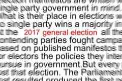 ELECCIÓN GENERAL Foto de archivo libre de regalías