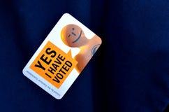 2014 elección general - elecciones Nueva Zelanda Foto de archivo