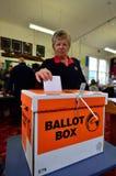 2014 elección general - elecciones Nueva Zelanda Imagen de archivo libre de regalías