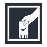 Elección - mano con el boletín de votación Stock de ilustración